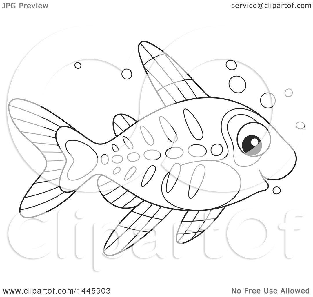 Clipart Of A Cartoon Black And White Lineart Cute Xray