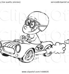 clipart of a cartoon black and white race car driver boy royalty free vector illustration [ 1080 x 1024 Pixel ]