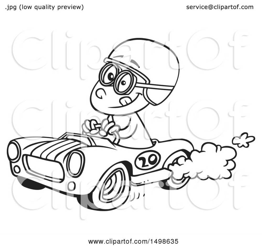 medium resolution of clipart of a cartoon black and white race car driver boy royalty free vector illustration