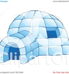 clipart of a cartoon blue icy igloo dwelling royalty free vector illustration by visekart [ 1080 x 1024 Pixel ]