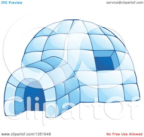 small resolution of clipart of a cartoon blue icy igloo dwelling royalty free vector illustration by visekart