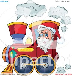 clipart of a cartoon christmas santa claus driving a train royalty free vector illustration by [ 1080 x 1024 Pixel ]