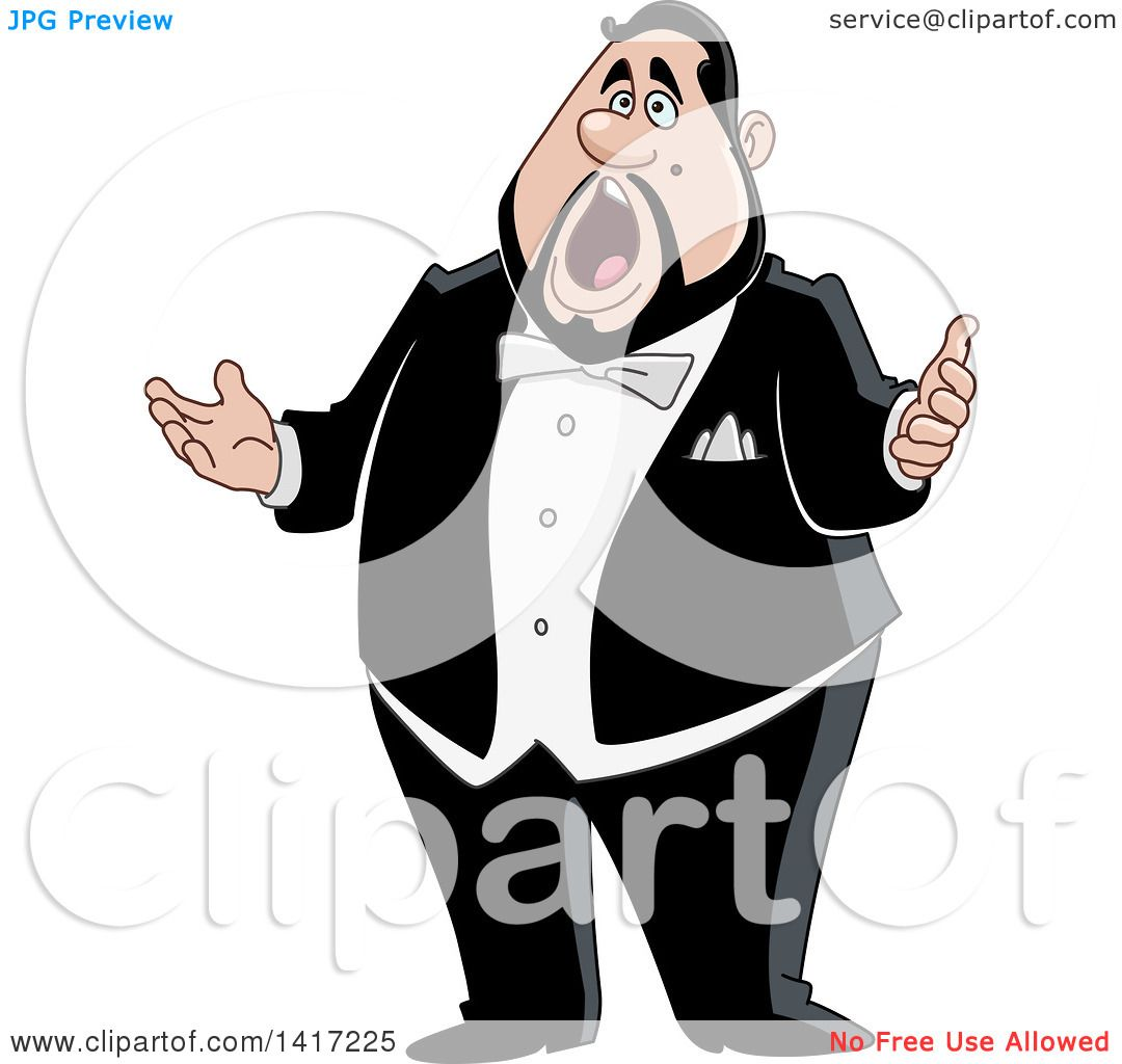 hight resolution of clipart of a cartoon chubby male opera singer royalty free vector illustration by yayayoyo