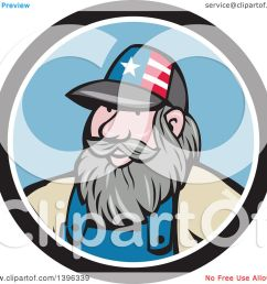clipart of a cartoon chubby white male hillbilly wearing a patriotic hat in a black white [ 1080 x 1024 Pixel ]