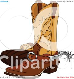clipart of a cartoon cowboy boots with spurs royalty free vector illustration by pushkin [ 1080 x 1024 Pixel ]