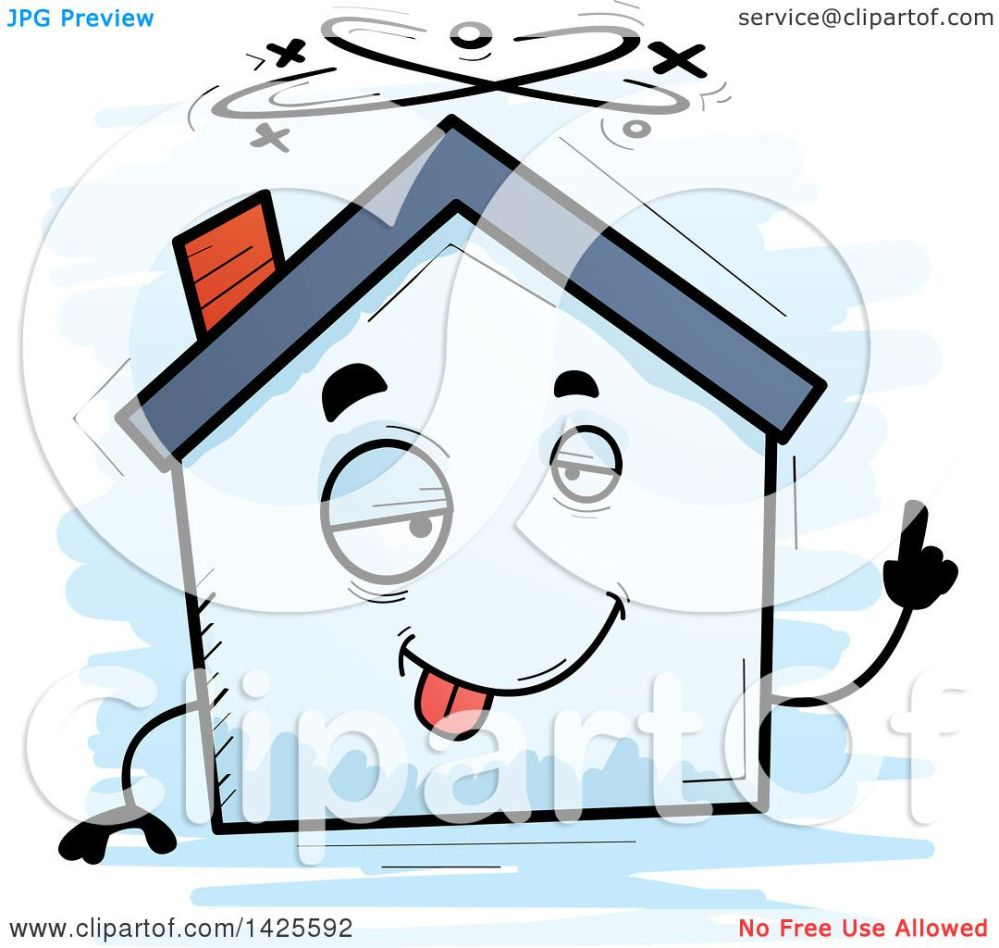 medium resolution of clipart of a cartoon doodled drunk home character royalty free vector illustration by cory thoman