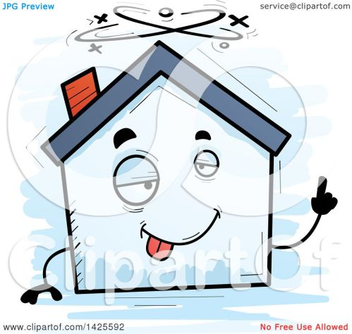 small resolution of clipart of a cartoon doodled drunk home character royalty free vector illustration by cory thoman