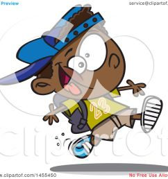 clipart of a cartoon energetic black school boy running royalty free vector illustration [ 1080 x 1024 Pixel ]