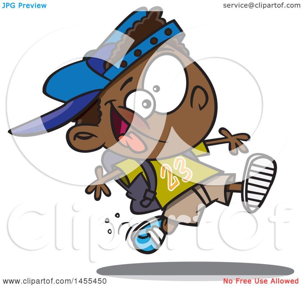 medium resolution of clipart of a cartoon energetic black school boy running royalty free vector illustration