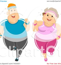 clipart of a cartoon happy overweight caucasian couple jogging and working out together royalty free vector [ 1080 x 1024 Pixel ]