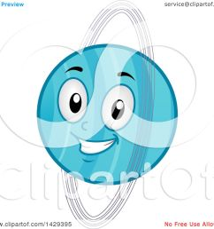 clipart of a cartoon happy planet uranus mascot royalty free vector illustration by bnp design studio [ 1080 x 1024 Pixel ]