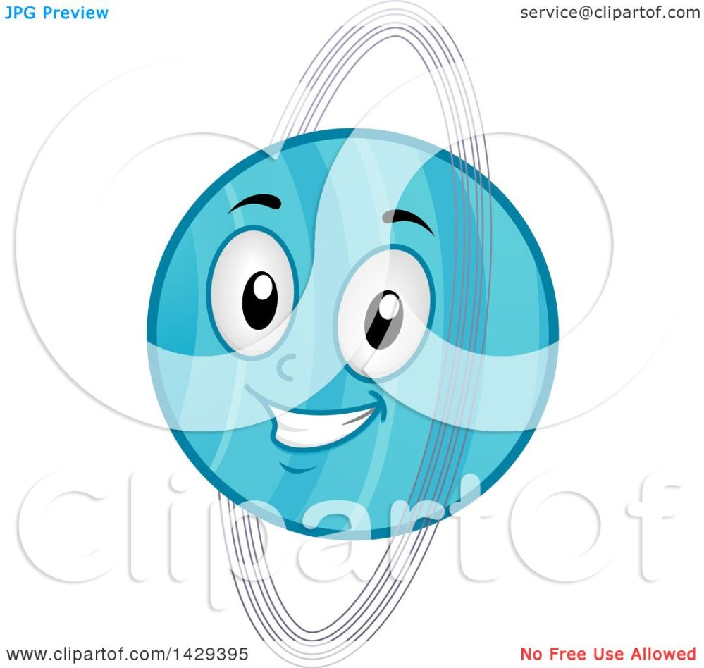 medium resolution of clipart of a cartoon happy planet uranus mascot royalty free vector illustration by bnp design studio