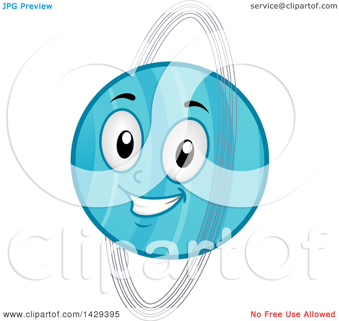 hight resolution of clipart of a cartoon happy planet uranus mascot royalty free vector illustration by bnp design studio