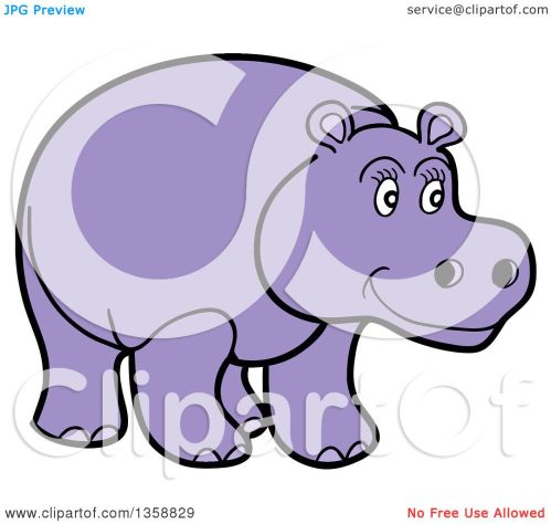 small resolution of clipart of a cartoon happy purple hippopotamus royalty free vector illustration by lafftoon