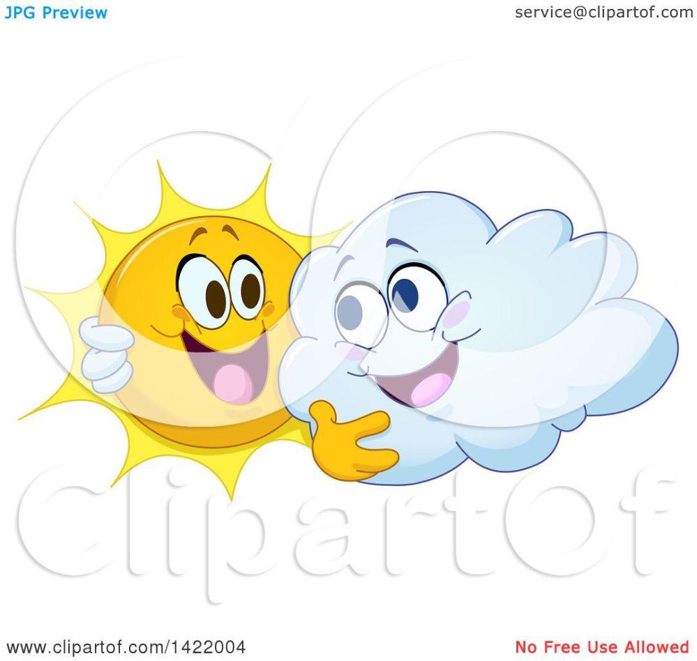 medium resolution of clipart of a cartoon happy sun and cloud hugging royalty free vector illustration by yayayoyo