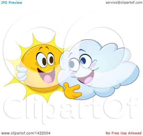 small resolution of clipart of a cartoon happy sun and cloud hugging royalty free vector illustration by yayayoyo