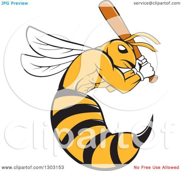 clipart of cartoon killer bee