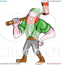 clipart of a cartoon logger paul bunyan with an axe royalty free vector [ 1080 x 1024 Pixel ]