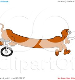 clipart of a cartoon long weiner dog riding a unicycle with his hind legs royalty [ 1080 x 1024 Pixel ]