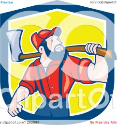 clipart of a cartoon male paul bunyan lumberjack carrying an axe in a blue white and [ 1080 x 1024 Pixel ]