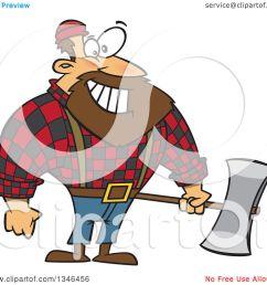 clipart of a cartoon paul bunyan lumberjack holding an axe royalty free vector illustration by [ 1080 x 1024 Pixel ]