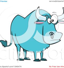clipart of a cartoon paul bunyan s babe the blue ox royalty free vector illustration by [ 1080 x 1024 Pixel ]