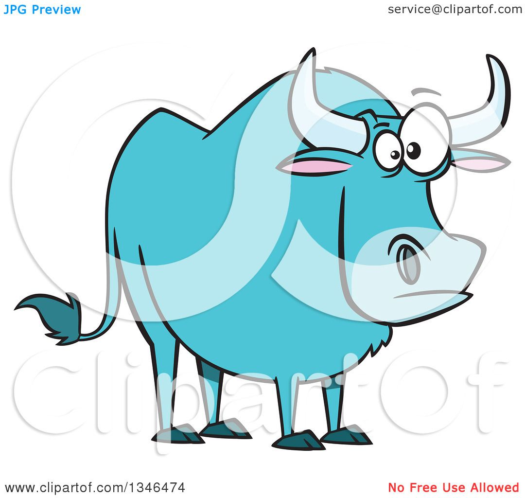 hight resolution of clipart of a cartoon paul bunyan s babe the blue ox royalty free vector illustration by