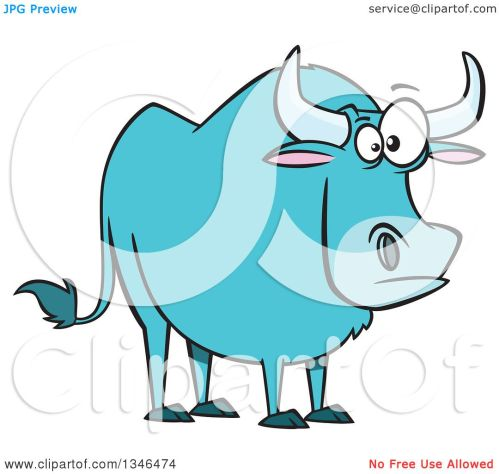 small resolution of clipart of a cartoon paul bunyan s babe the blue ox royalty free vector illustration by