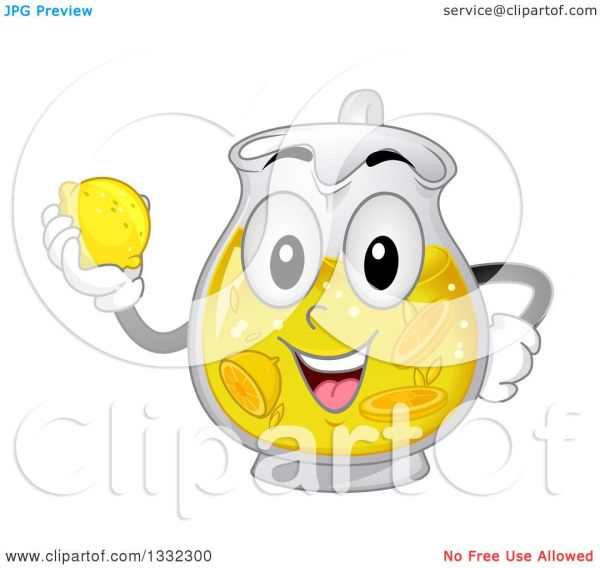 clipart of cartoon pitcher character