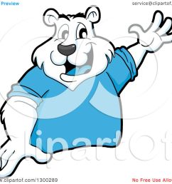 clipart of a cartoon polar bear mascot presenting royalty free vector illustration by lafftoon [ 1080 x 1024 Pixel ]