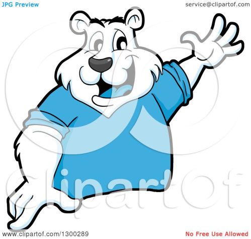 small resolution of clipart of a cartoon polar bear mascot presenting royalty free vector illustration by lafftoon