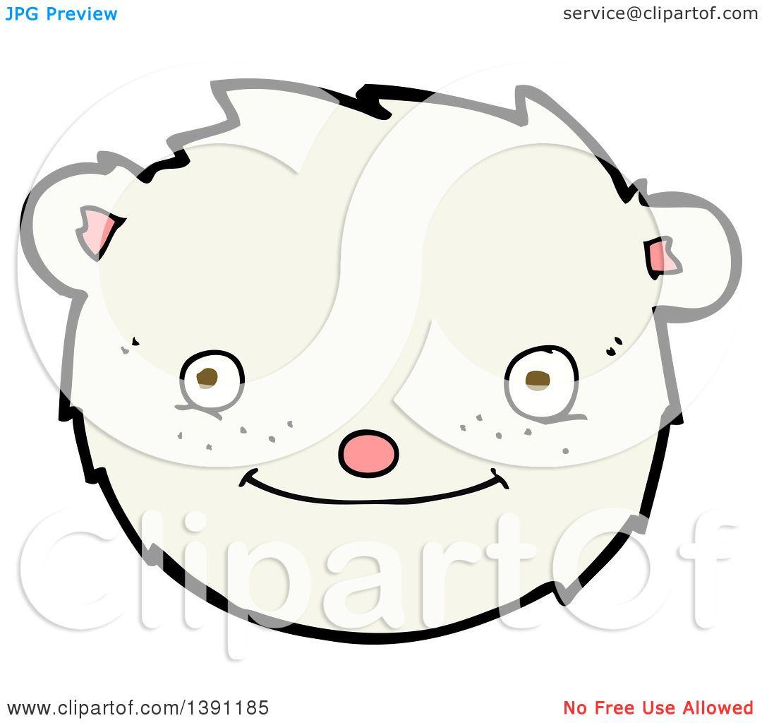 Clipart Of A Cartoon Polar Bear