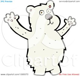 polar bear cartoon illustration clipart royalty vector lineartestpilot clip copyright