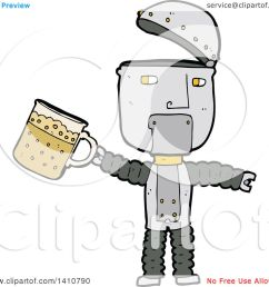 clipart of a cartoon robot royalty free vector illustration by lineartestpilot [ 1080 x 1024 Pixel ]