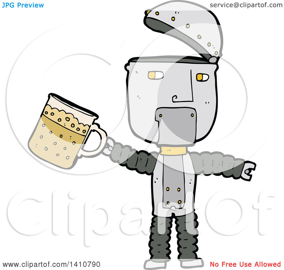 hight resolution of clipart of a cartoon robot royalty free vector illustration by lineartestpilot