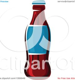 clipart of a cartoon soda bottle royalty free vector illustration by vector tradition sm [ 1080 x 1024 Pixel ]