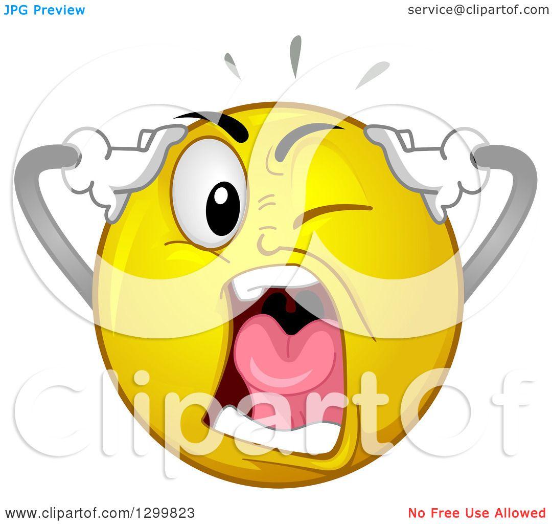 S Portfolio Bnpdesignstudio Illustration Cartoon Yellow Smiley Face Emoticon Screaming In Exasperatio L