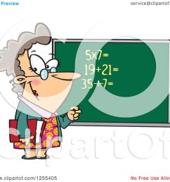 clipart of a caucasian female math teacher at a chalk board royalty free vector illustration by toonaday [ 1080 x 1024 Pixel ]