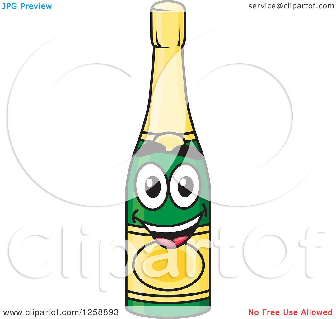 hight resolution of clipart of a champagne bottle character royalty free vector illustration by vector tradition sm
