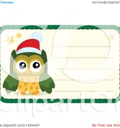 clipart of a christmas owl tag or label royalty free vector illustration by visekart [ 1080 x 1024 Pixel ]