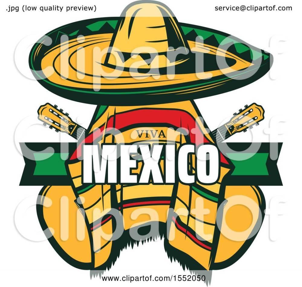 medium resolution of clipart of a cinco de mayo viva mexico design with a sombrero and poncho royalty