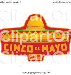 clipart of a cindo de mayo design with a sombrero hat royalty free vector illustration [ 1080 x 1024 Pixel ]