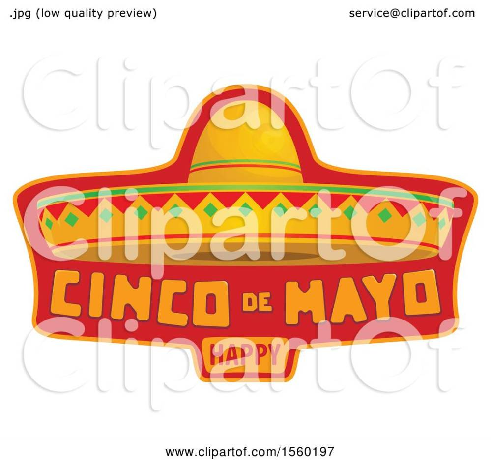 medium resolution of clipart of a cindo de mayo design with a sombrero hat royalty free vector illustration