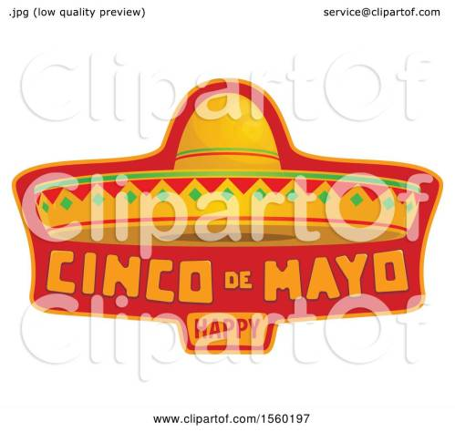 small resolution of clipart of a cindo de mayo design with a sombrero hat royalty free vector illustration