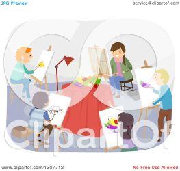 students clipart still class painting illustration royalty studio vector bnp