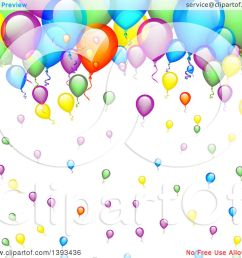 clipart of a colorful party balloon background royalty free vector illustration by vectorace [ 1080 x 1024 Pixel ]