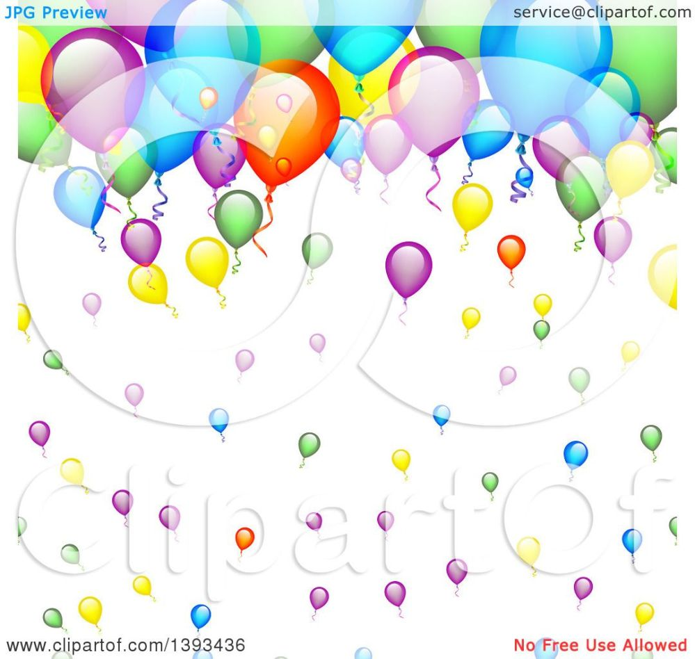 medium resolution of clipart of a colorful party balloon background royalty free vector illustration by vectorace