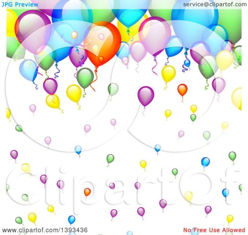 small resolution of clipart of a colorful party balloon background royalty free vector illustration by vectorace