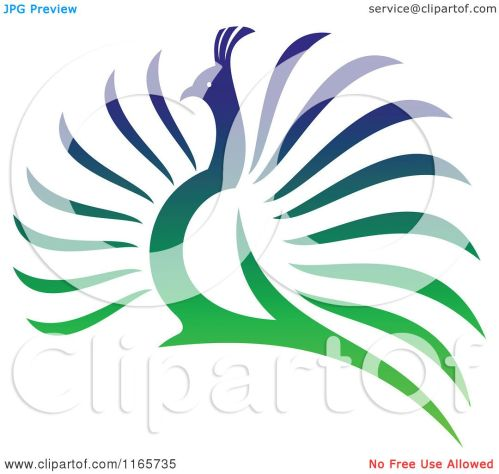 small resolution of clipart of a colorful peacock 4 royalty free vector illustration by vector tradition sm