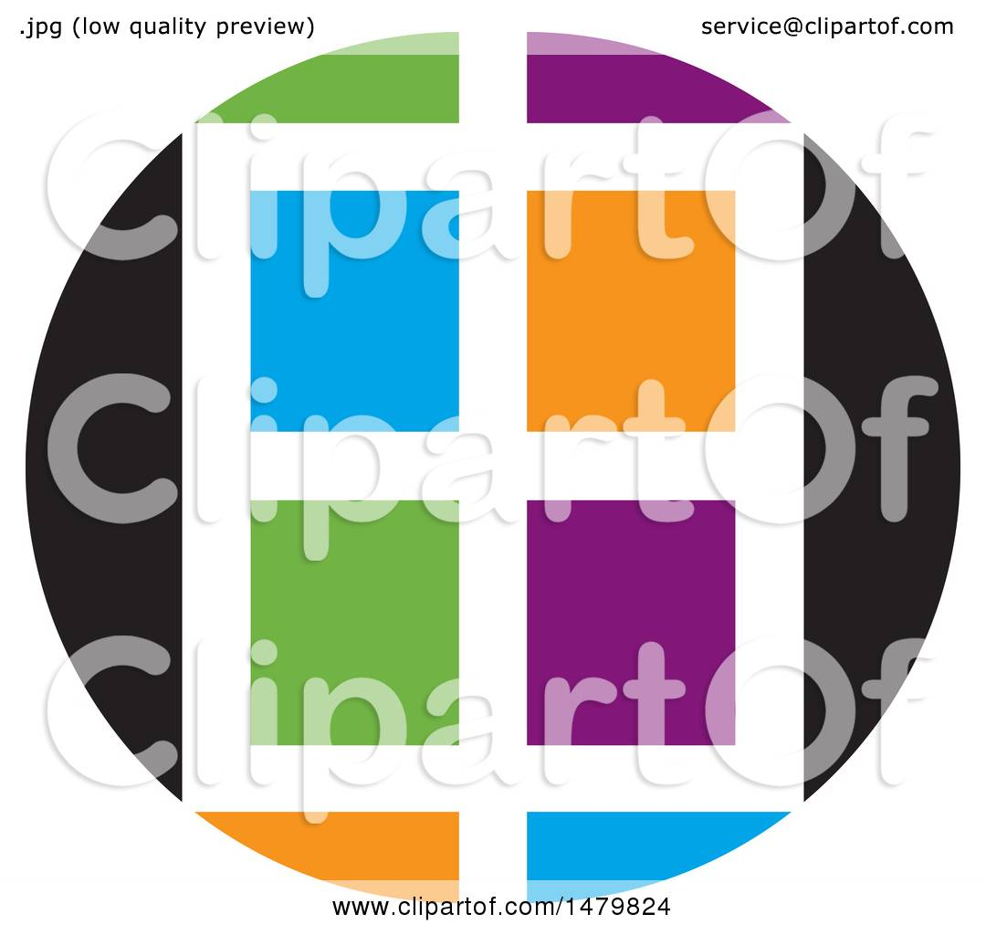 hight resolution of clipart of a colorful window design royalty free vector illustration by lal perera